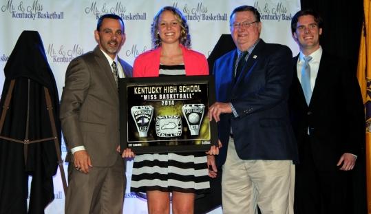 Balfour Representative, Braden Gibbs, 2014 Miss KY Basketball, Ivy Brown & Coach Joe B. Hall